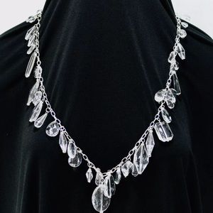 White House Black Market Silver/Crystal Necklace